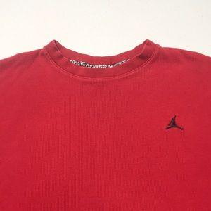 JORDAN - NIKE Men's Red Long Sleeve Thermal Shirt